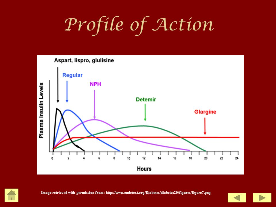 Profile of Action Image retrieved with permission from: http://www.endotext.org/Diabetes/diabetes20/figures/figure7.png.