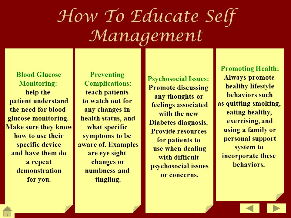 How To Educate Self Management