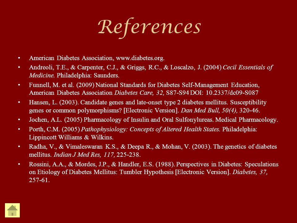 References American Diabetes Association, www.diabetes.org.