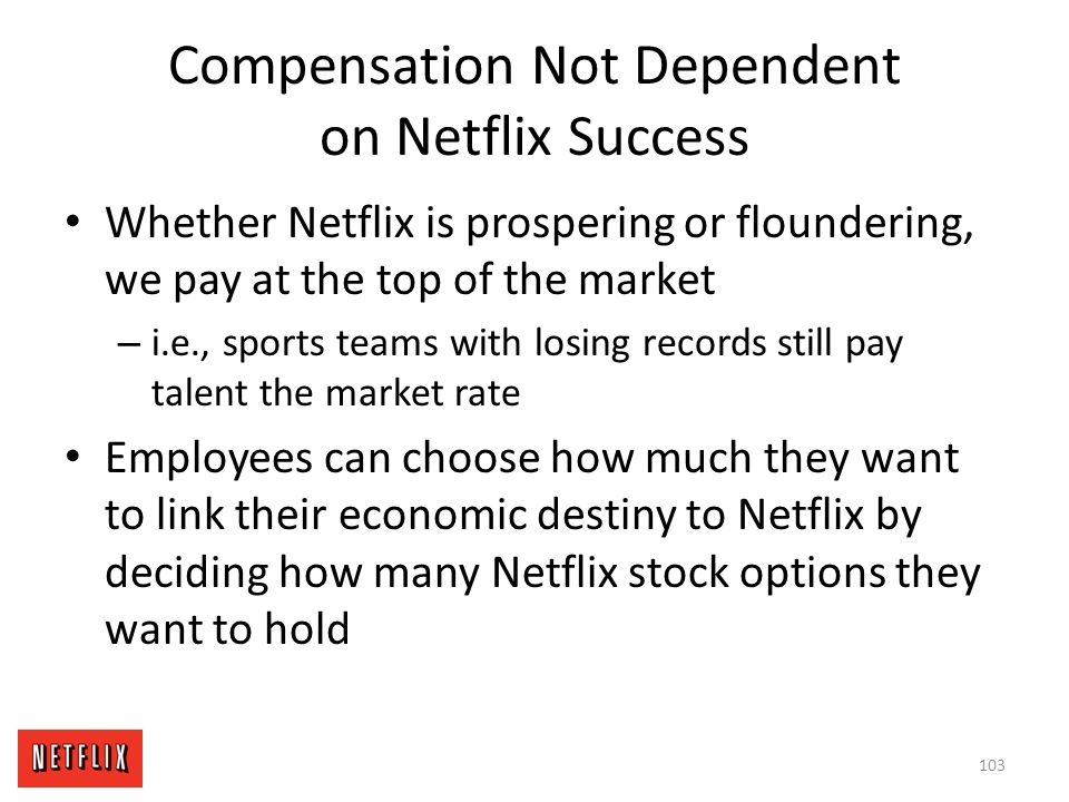 Compensation Not Dependent on Netflix Success