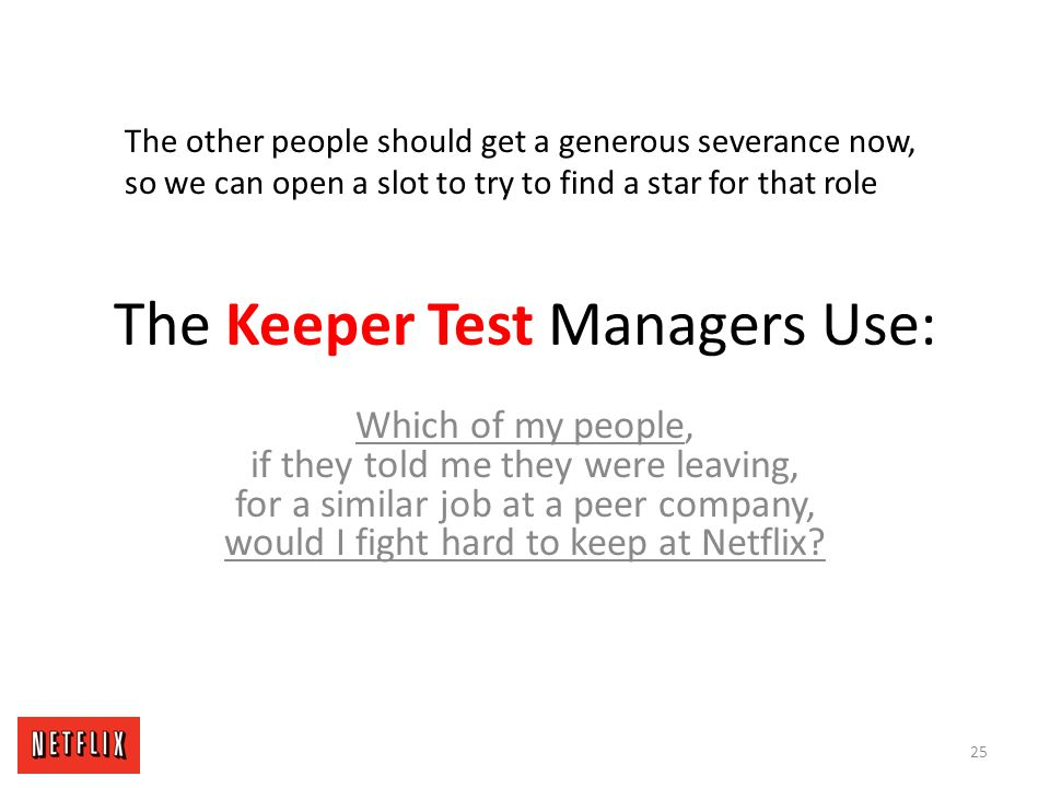 The Keeper Test Managers Use: