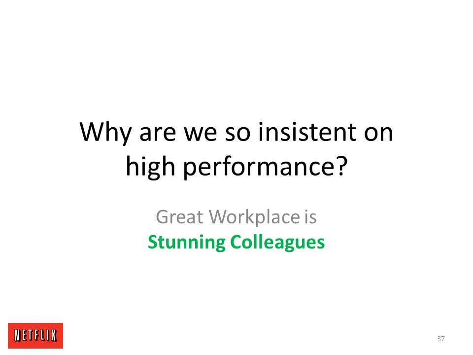 Why are we so insistent on high performance