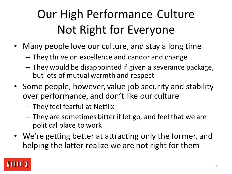 Our High Performance Culture Not Right for Everyone