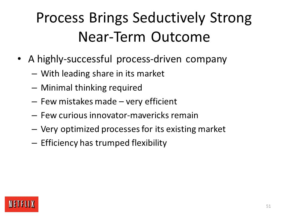 Process Brings Seductively Strong Near-Term Outcome