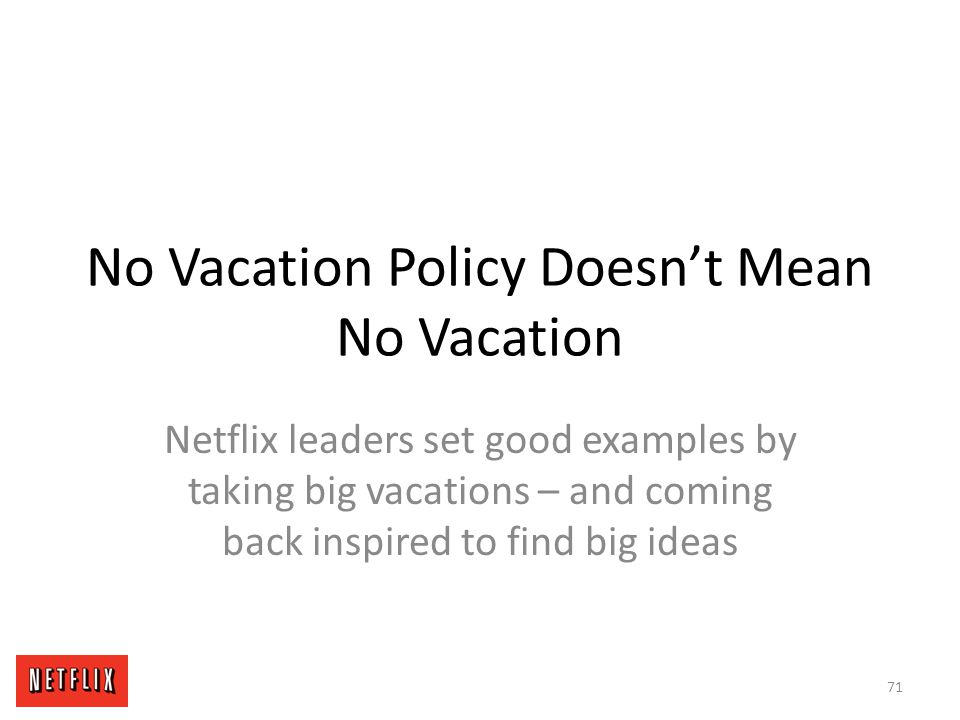 No Vacation Policy Doesn't Mean No Vacation