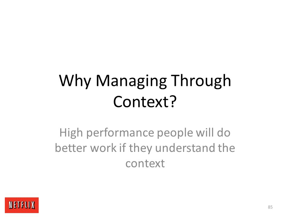 Why Managing Through Context