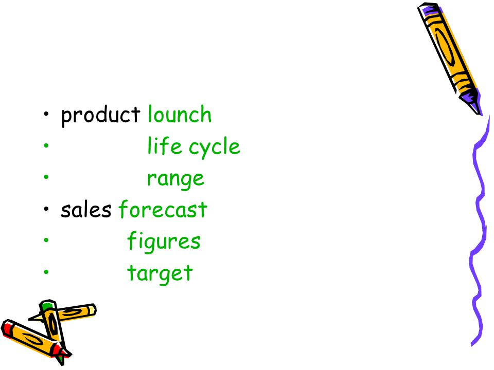 product lounch life cycle range sales forecast figures target