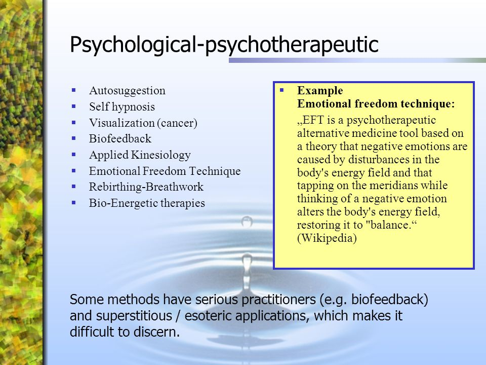 Psychological-psychotherapeutic