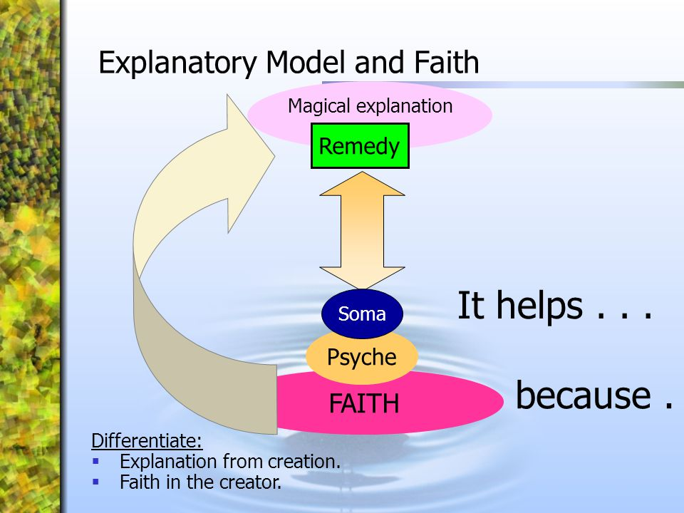 Explanatory Model and Faith