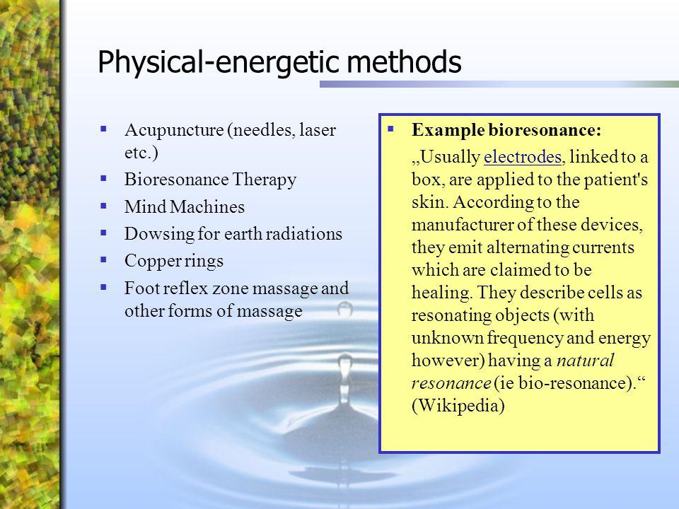 Physical-energetic methods