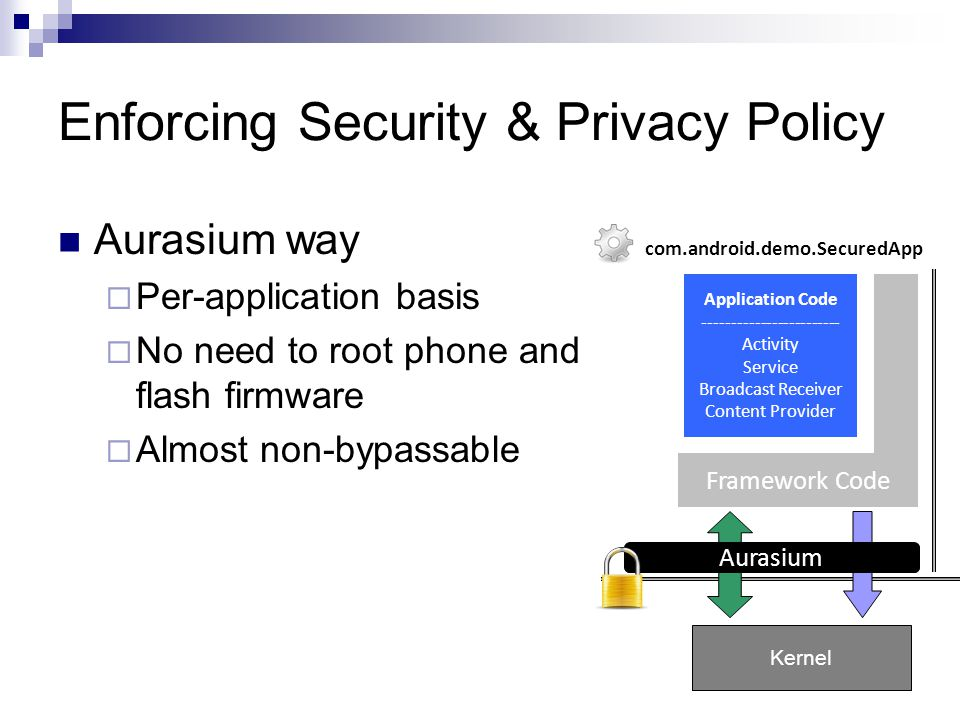 Enforcing Security & Privacy Policy