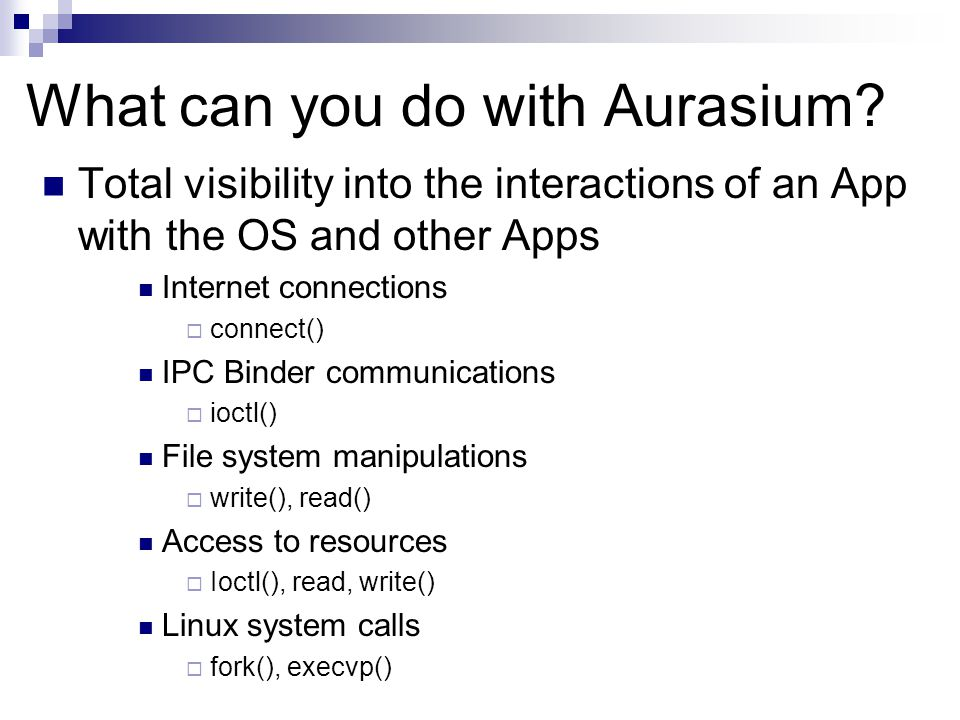What can you do with Aurasium