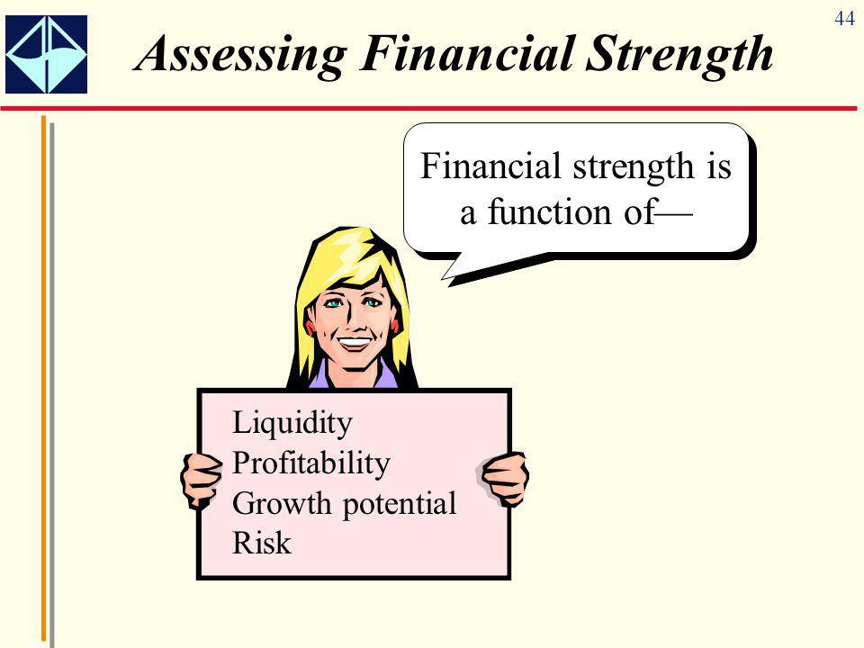 Assessing Financial Strength