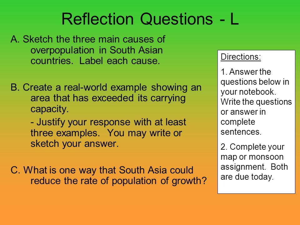 Reflection Questions - L