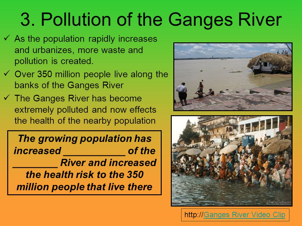 3. Pollution of the Ganges River