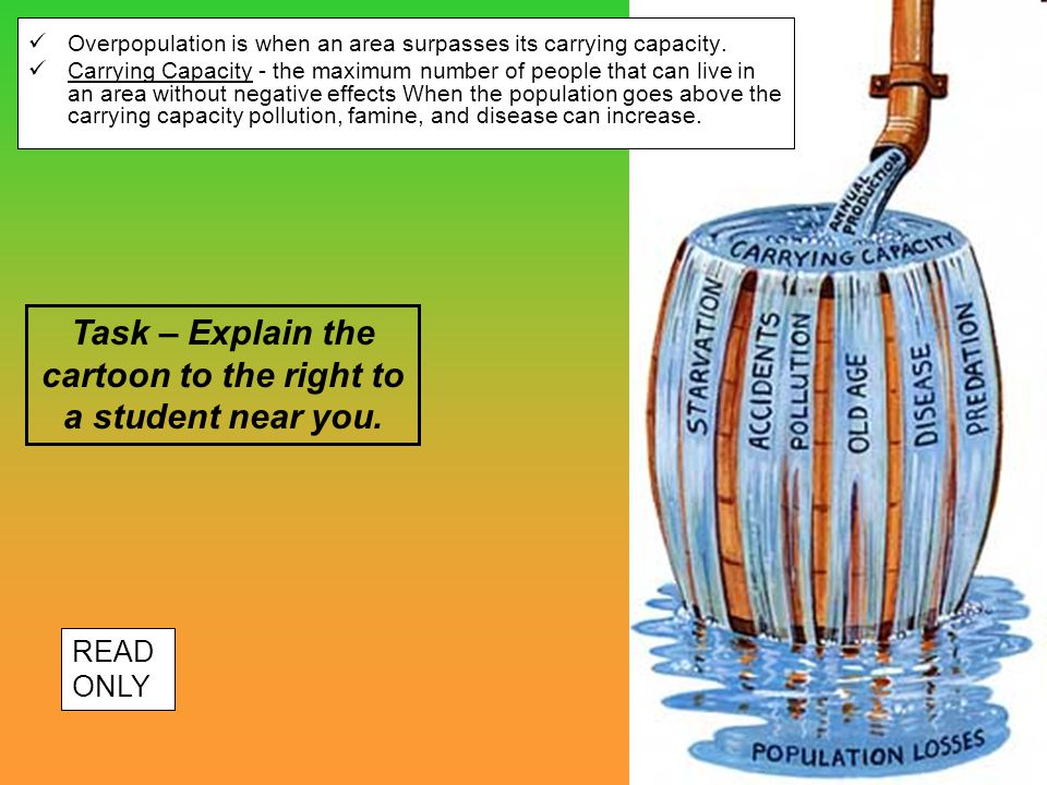 Task – Explain the cartoon to the right to a student near you.