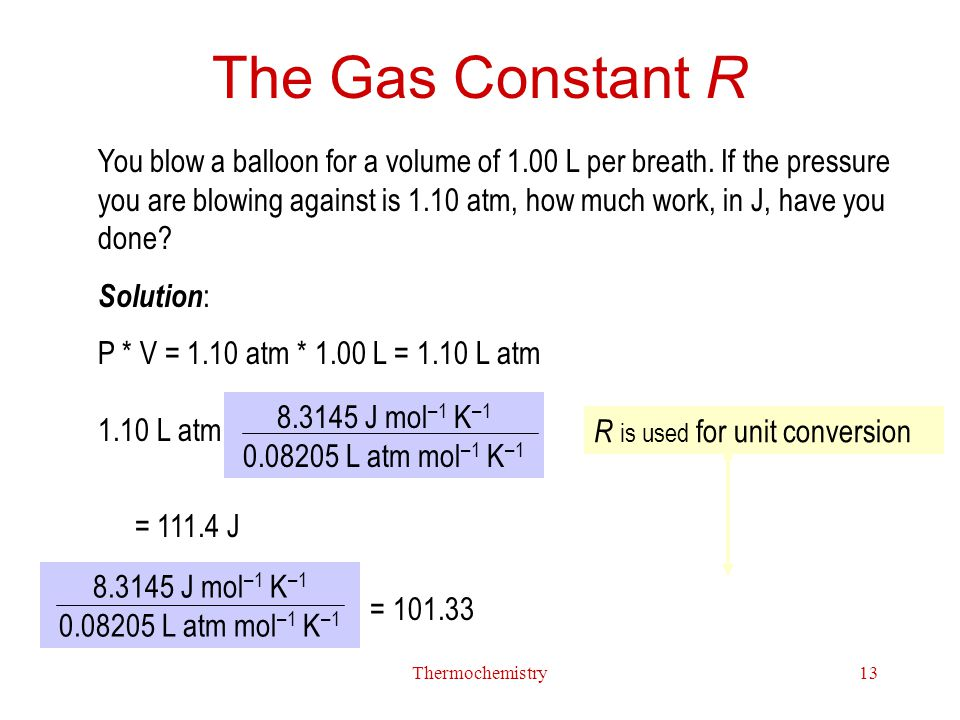 The Gas Constant R