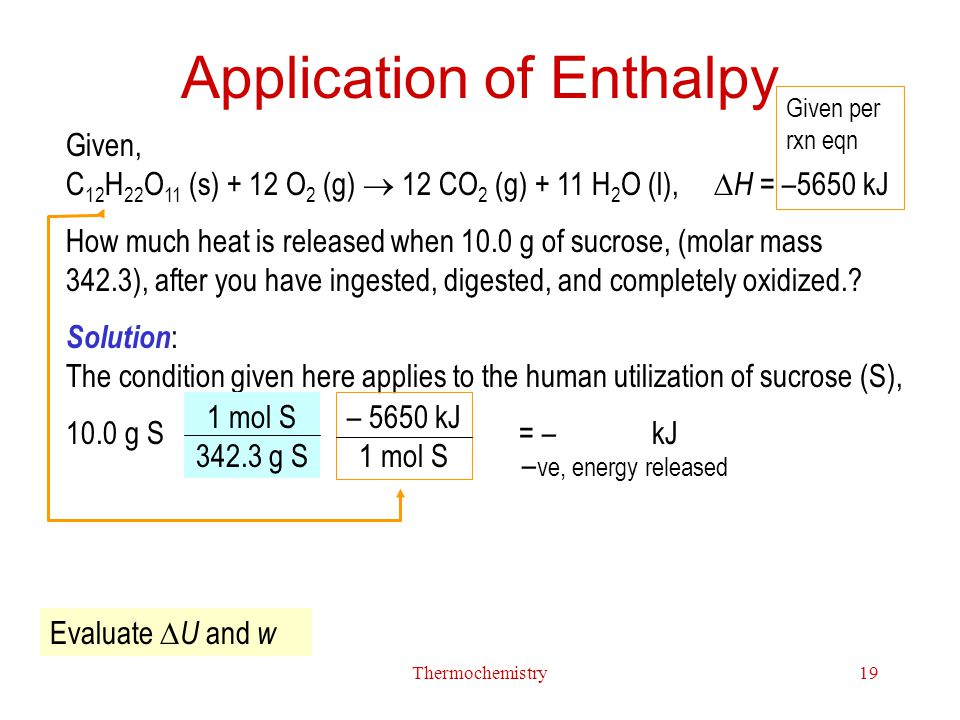 Application of Enthalpy