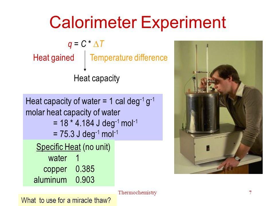 Calorimeter Experiment