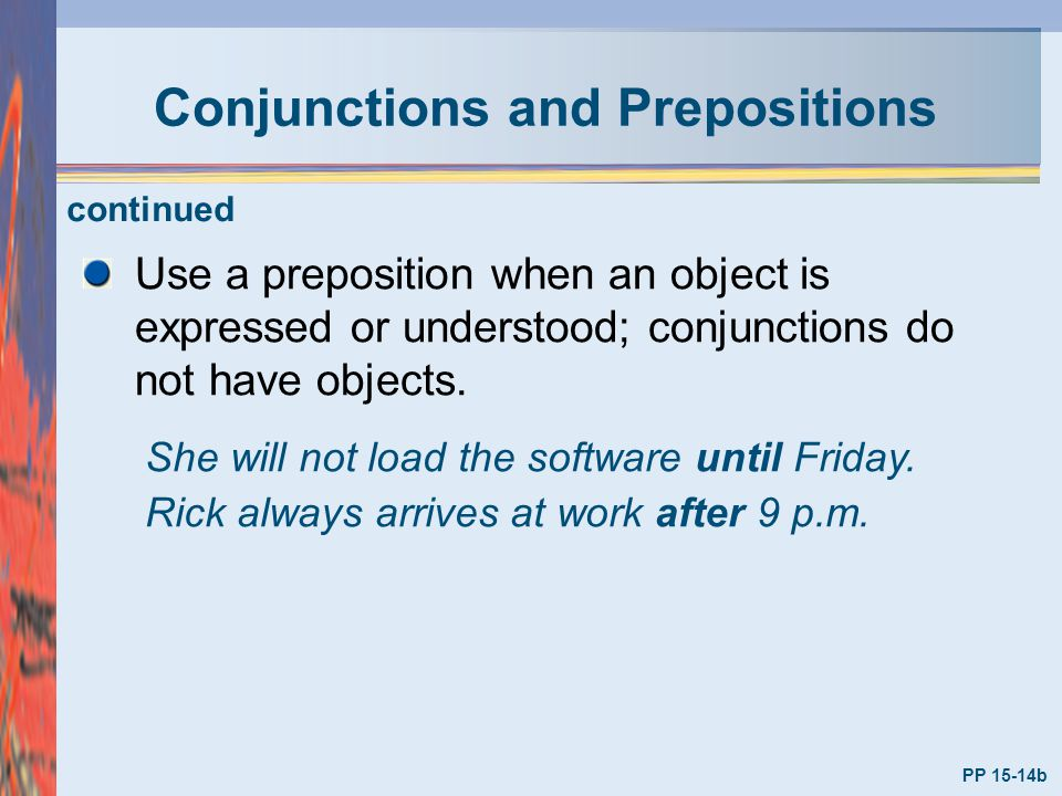 Conjunctions and Prepositions
