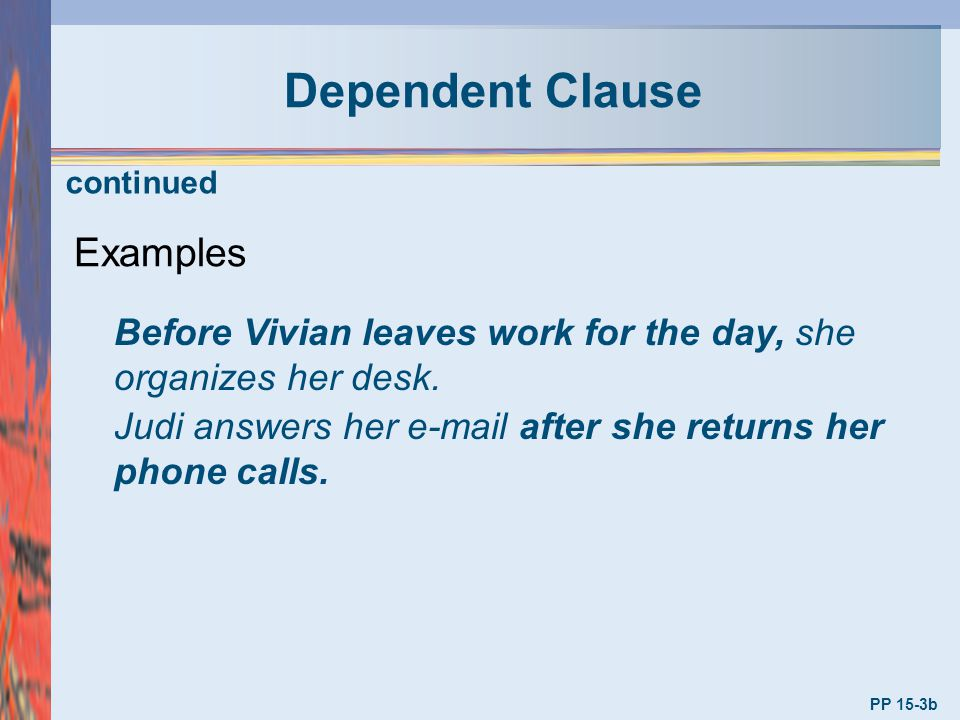 Dependent Clause Examples