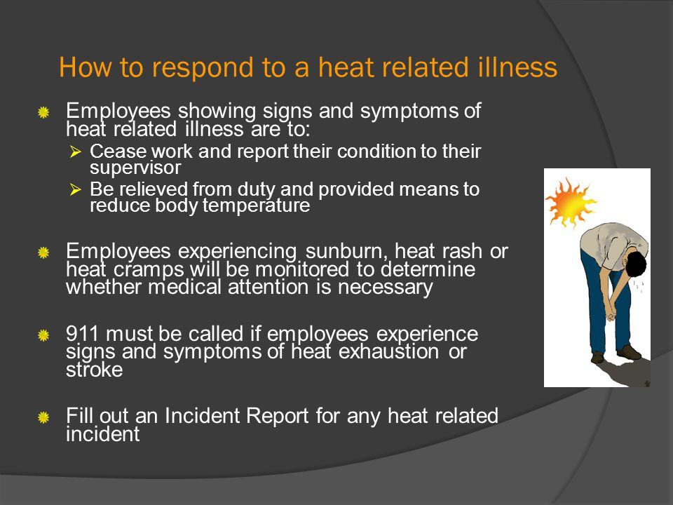 How to respond to a heat related illness