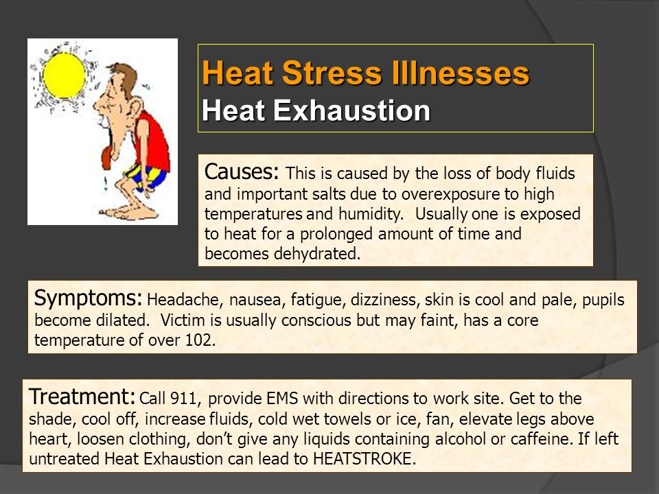 Heat Stress Illnesses Heat Exhaustion
