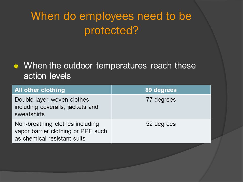 When do employees need to be protected