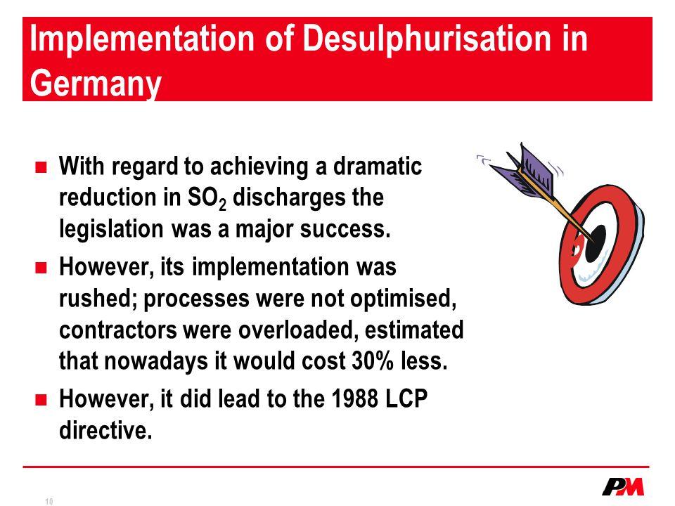 Implementation of Desulphurisation in Germany