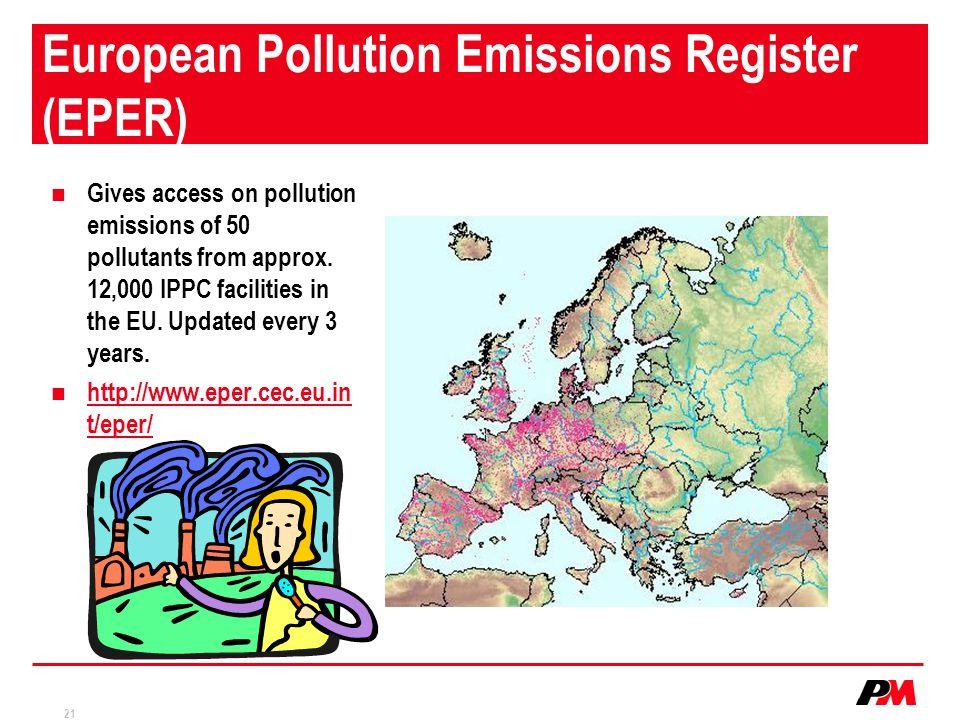 European Pollution Emissions Register (EPER)