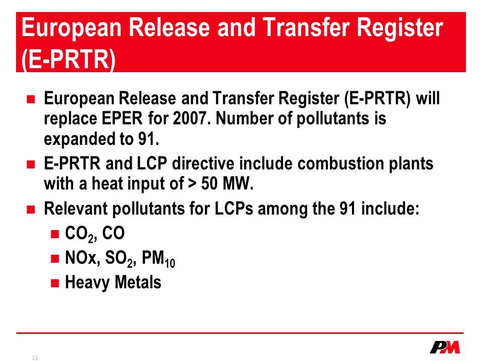 European Release and Transfer Register (E-PRTR)