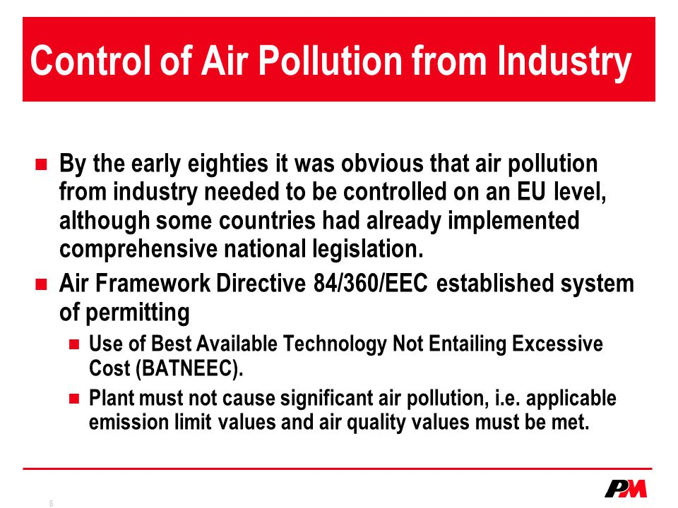 Control of Air Pollution from Industry