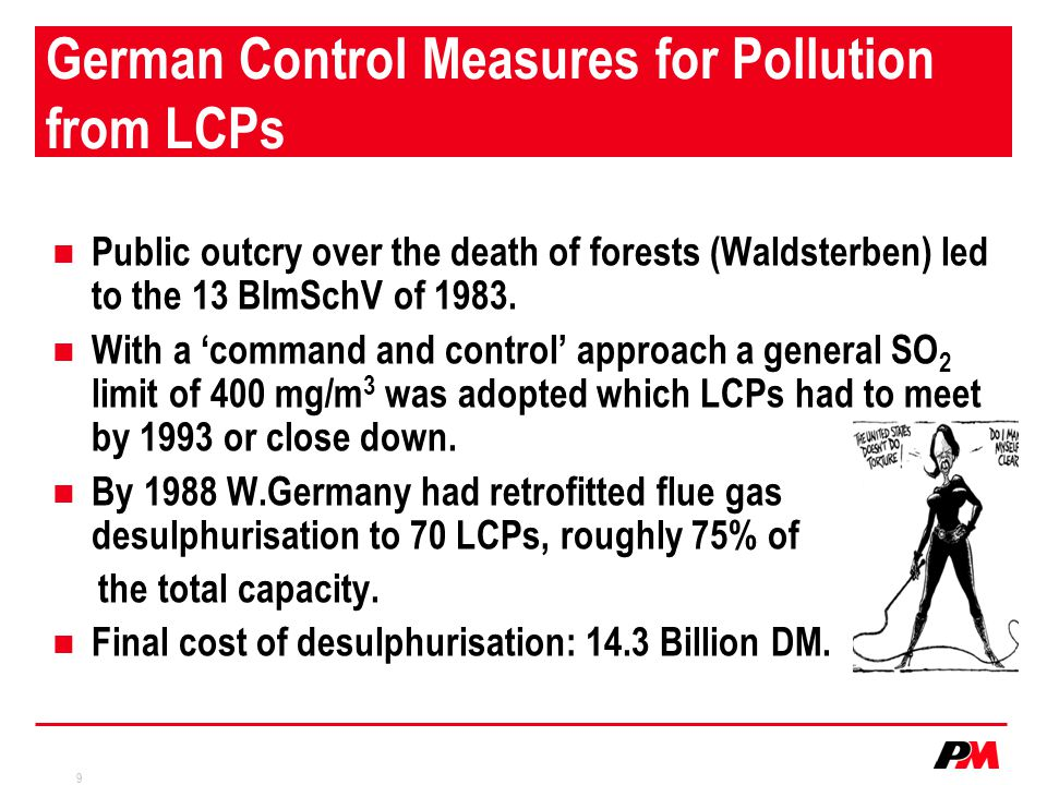 German Control Measures for Pollution from LCPs