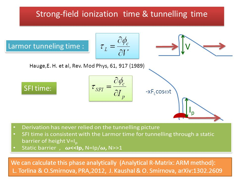 Strong-field ionization time & tunnelling time