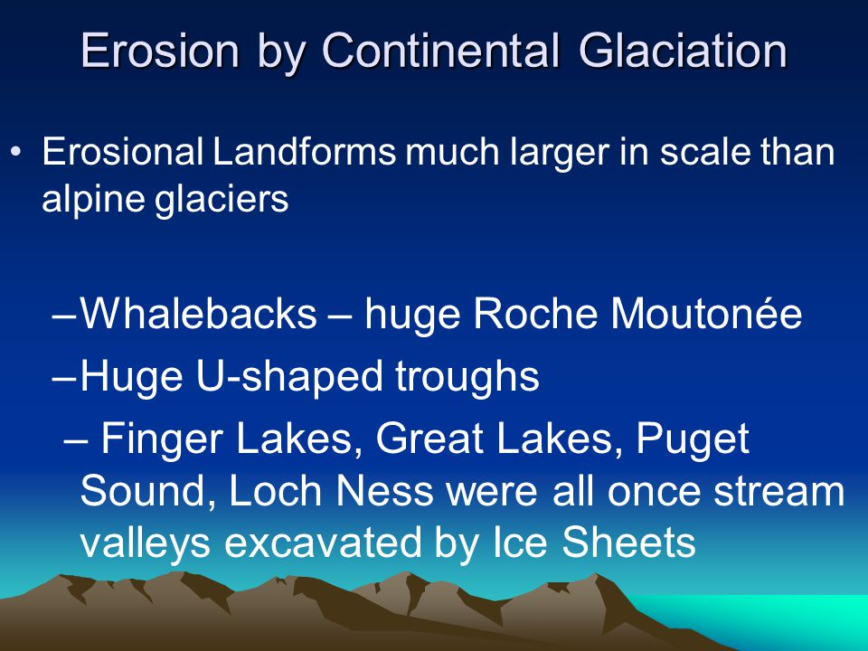 Erosion by Continental Glaciation