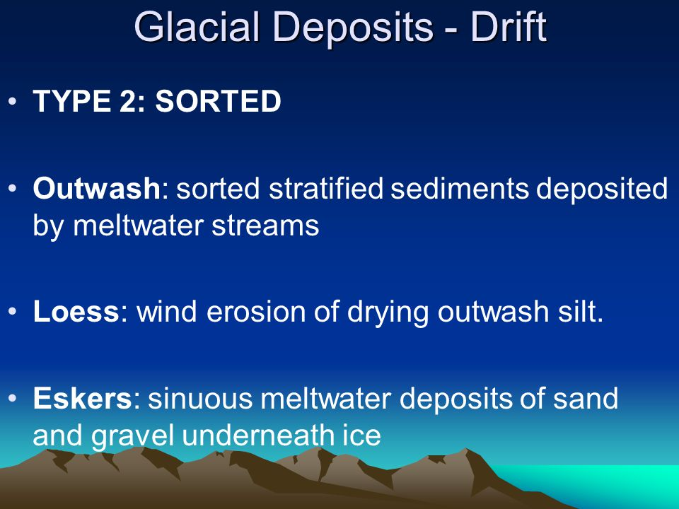 Glacial Deposits - Drift