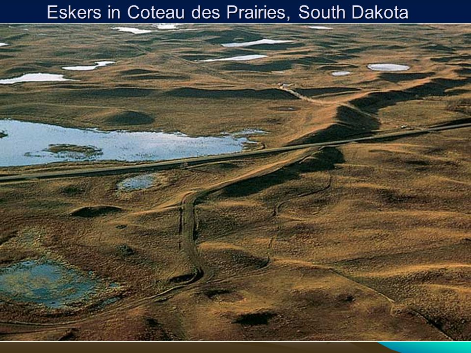 Eskers in Coteau des Prairies, South Dakota