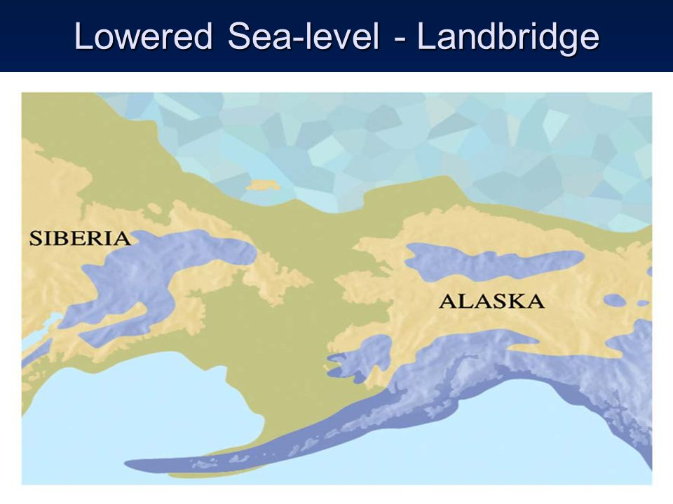 Lowered Sea-level - Landbridge