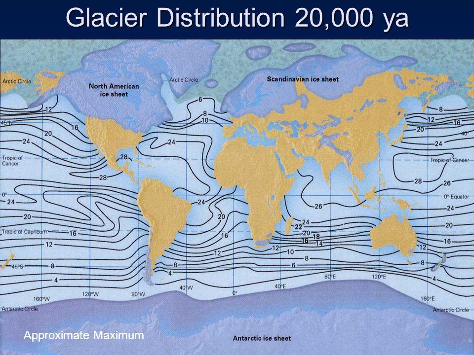 Glacier Distribution 20,000 ya