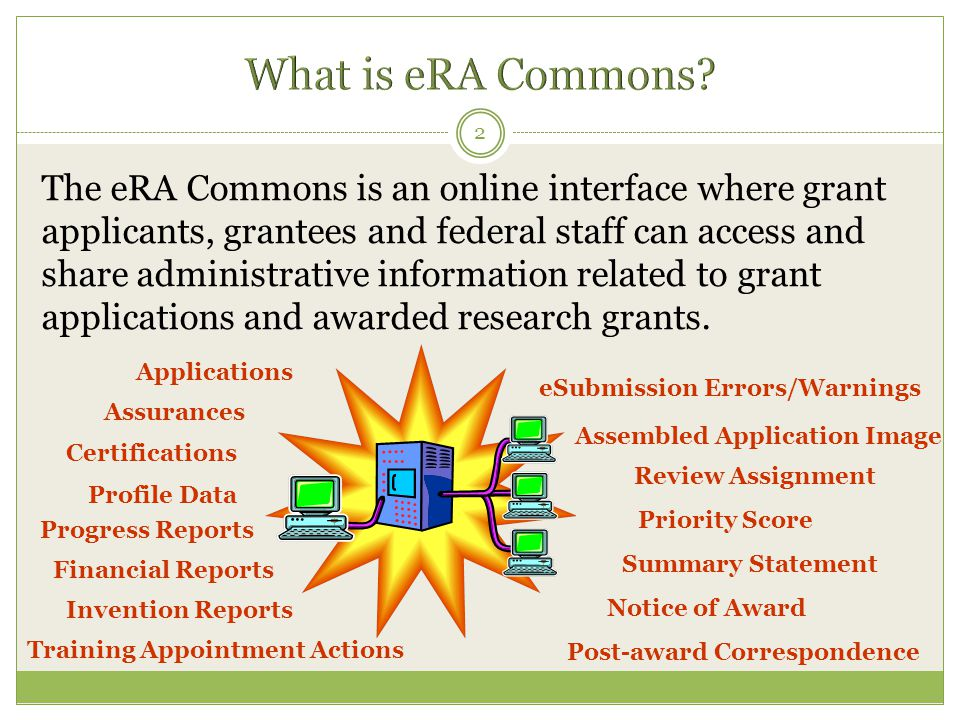 What is eRA Commons