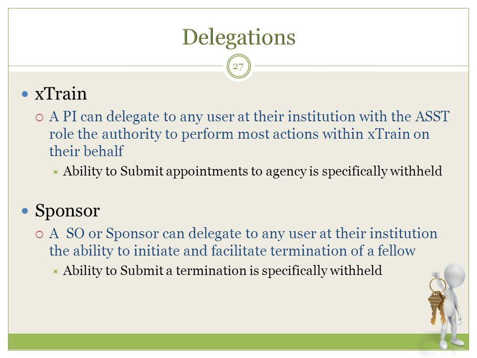 Delegations xTrain Sponsor