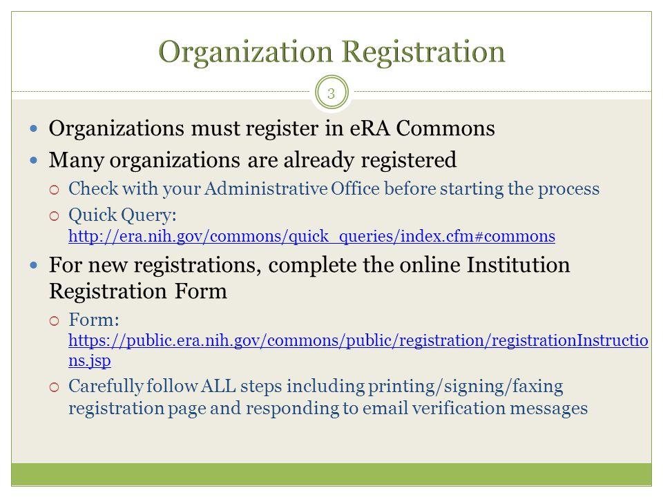 Organization Registration
