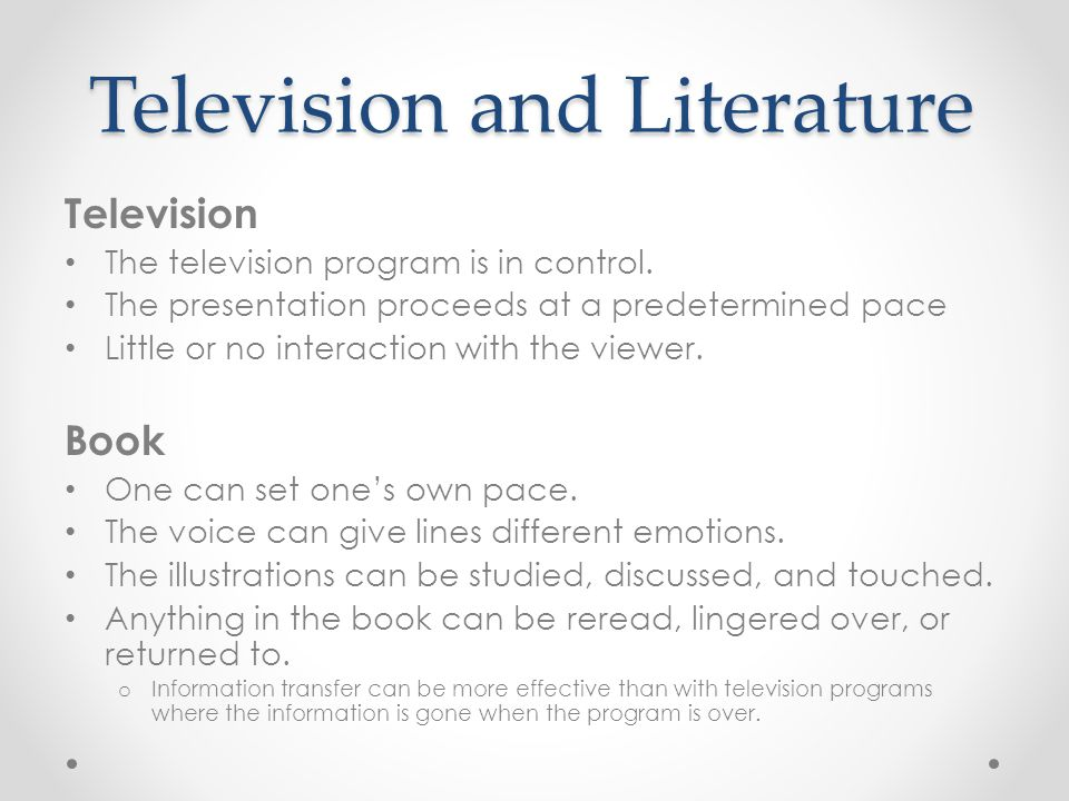 Television and Literature