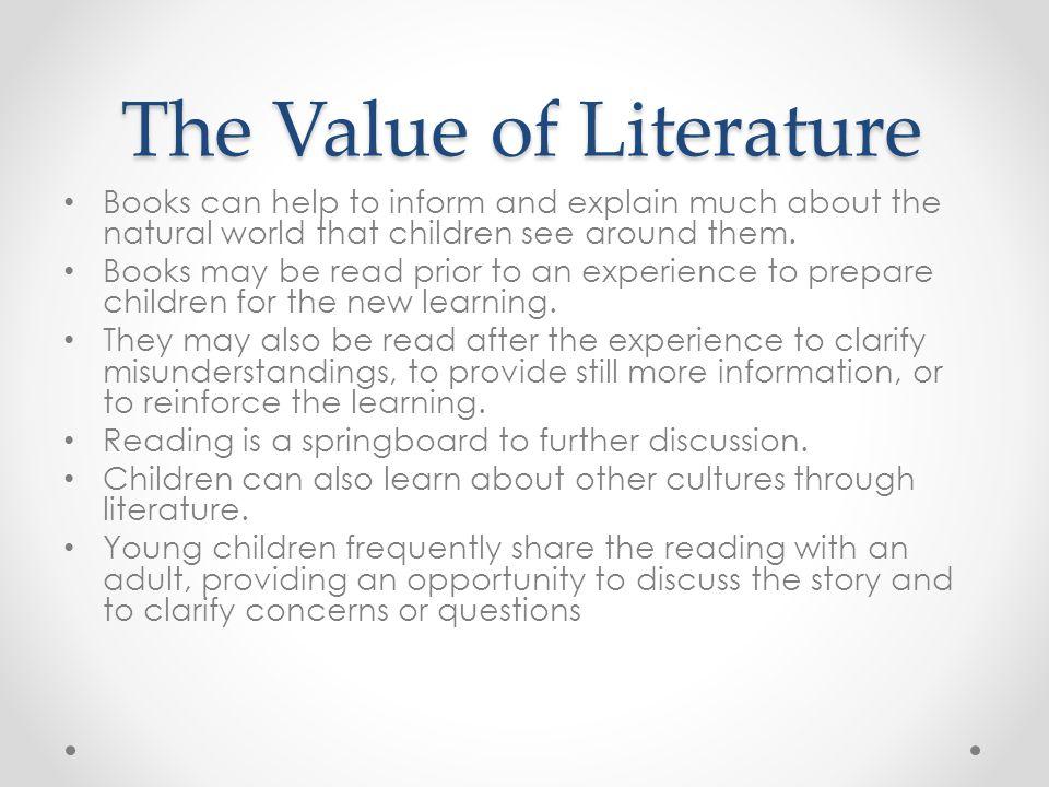 The Value of Literature