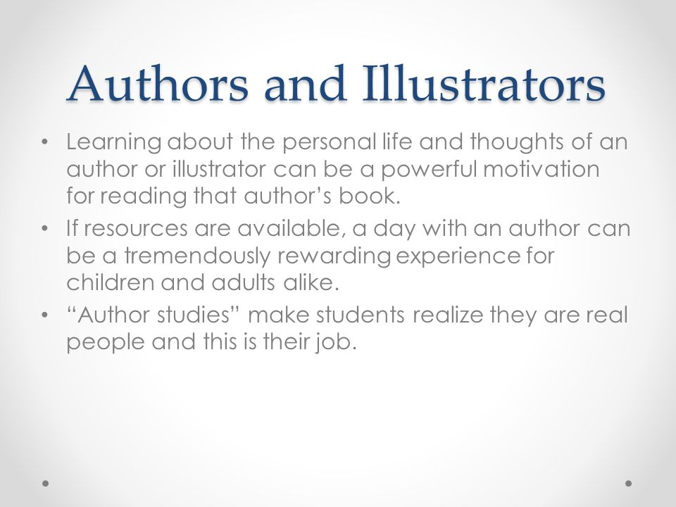 Authors and Illustrators