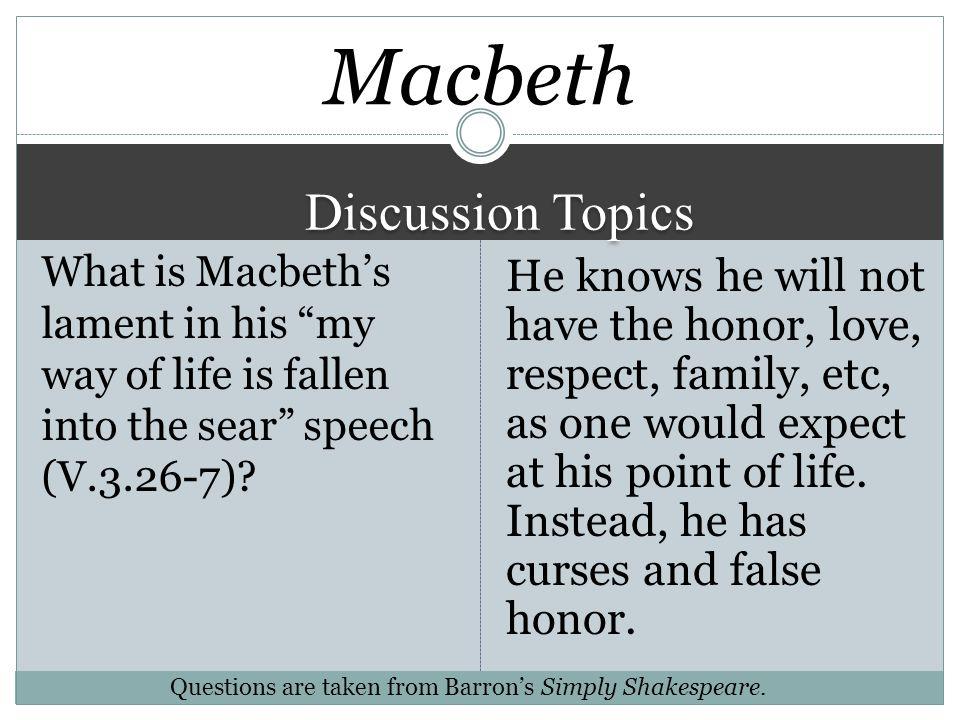 Macbeth Discussion Topics