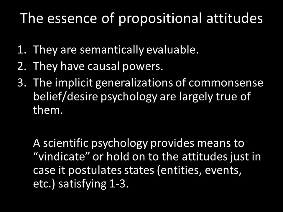 The essence of propositional attitudes