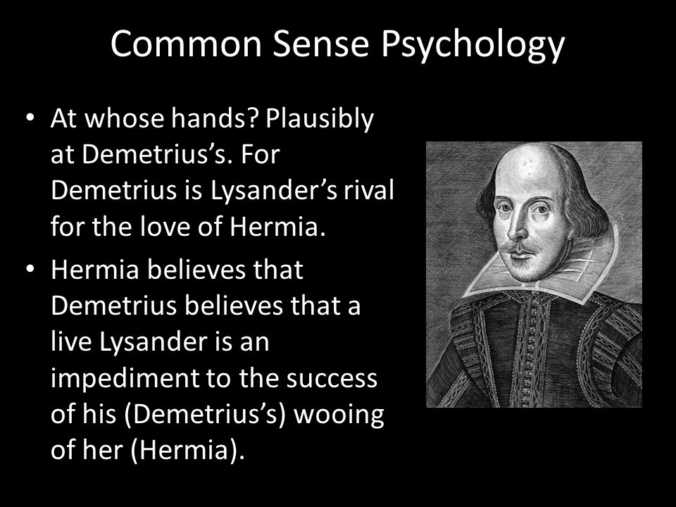 Common Sense Psychology