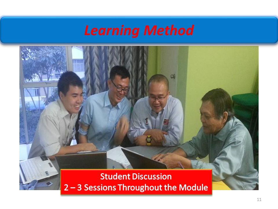 2 – 3 Sessions Throughout the Module