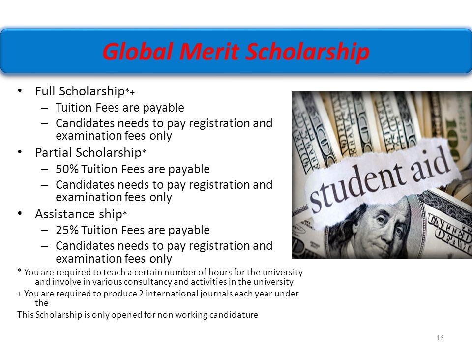 Global Merit Scholarship